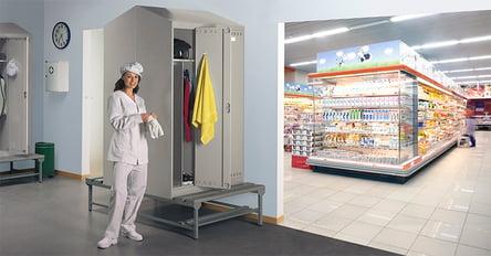 armadio spogliatoio alimentare